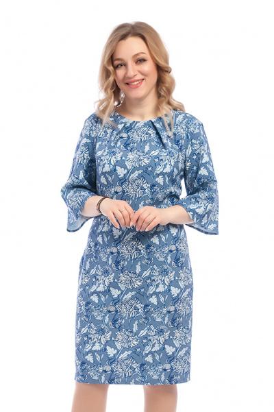 Платье с цветочным принтом, П-377/10